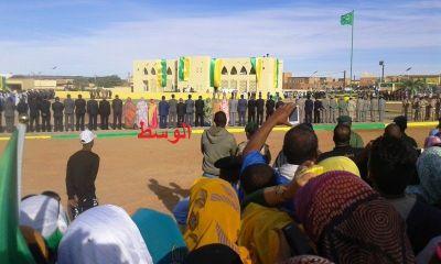 (الوسط) يرصد تفاعل الجماهير مع رفع العلم الوطني في أطار (فيديو حصري)